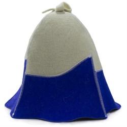 Банная шапка комбинированная - фото 7440