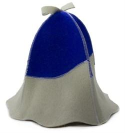 Банная шапка комбинированная - фото 7441