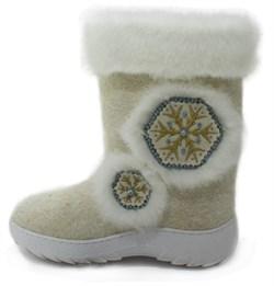 Обувь валяная Кукморская с отделкой из искусственного меха на формованной подошве - фото 8312