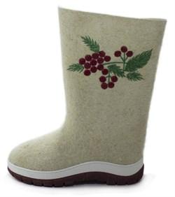 """Обувь валяная """"Кукморская"""" с вышивкой на формованной подошве - фото 8826"""