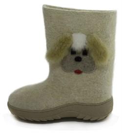 """Обувь валяная """"Кукморские"""" с отделкой на формованной подошве - фото 8915"""