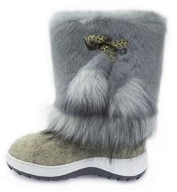 """Обувь валяная """"Кукморские"""" с отделкой на формованной подошве - фото 8931"""