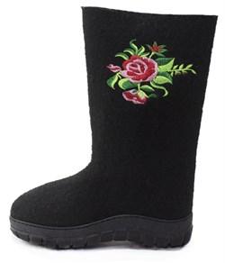 """Обувь валяная """"Кукморская"""" с вышивкой на формованной подошве - фото 9090"""
