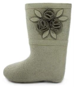 Обувь валяная Кукморская с войлочной отделкой - фото 9457