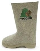 """Обувь валяная """"Кукморская""""  на формованной подошве"""
