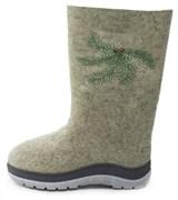 Обувь валяная Кукморская с вышивкой на формованной подошве  - копия