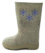 Обувь валяная Кукморская с вышивкой на формованной подошве